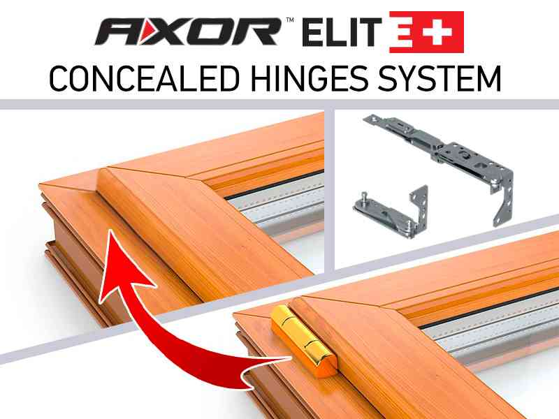 New product - concealed hinges system AXOR ELITE+